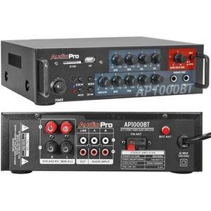 Amplificador Bluetooth + 2 Cabinas Equipo De Sonido Audiopro