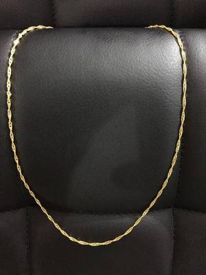 Cadena Acero Enchape En Oro 18kgf Mujer 18 Pulgadas