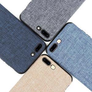 Iphone 7 y Iphone 8 plus case tela de lino y antidetonante,