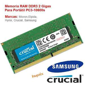 Memoria Ram Ddr3 2 Gb Para Portátil Notebook Pcs