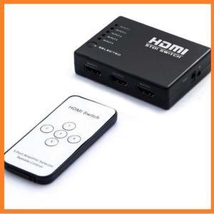 Switch Multiplicador 5 Puertos Hdmi Selector Control Remoto
