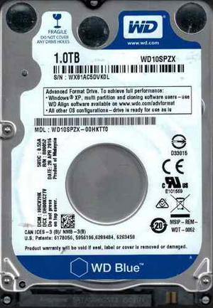 Disco Duro 1 Tb Wester Digital Para Portatil Blue 2.5 Sata