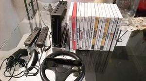 Fantástica Consola Nintendo Wii Original Negra Con 14