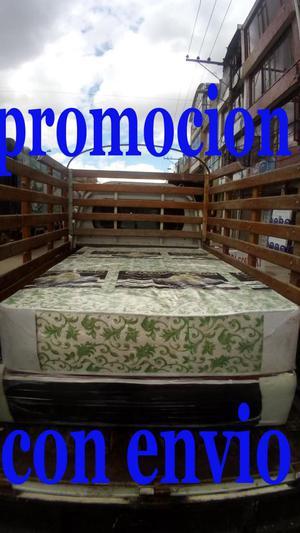 Super oferta cama base y colchón con obsequio llame ya