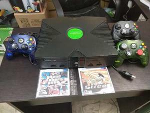 Xbox Clásico Buen Estado + 2 Controles Original 1 Genérico