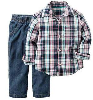 Set 2 Piezas (camisa + Pantalón) Carters Talla 12m Para