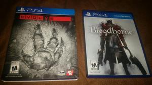 Bloodborne Y Evolve Ps4