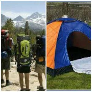 Combo Morral Camping 90 L + Carpa Camping 4 Personas + Envio