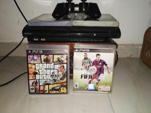 VENDO PS3 SUPER SLIM 3 JUEGOS DIGITALES Y 6 FISICOS