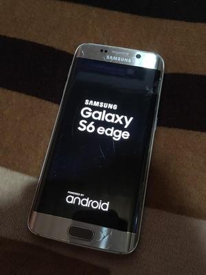 Galaxy S6 Edge. Fisurado No Afecta en Nada. Imei Original.