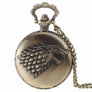 Collar Reloj Game Of Thrones Lobo Casa Stark Juego De Tronos