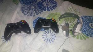 2 Controles de Xbox 360 con una Diadema xbox precio es fijo