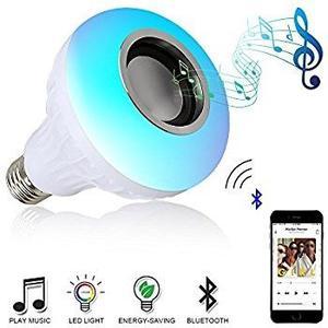 Bombillo Led Multicolor Bluetooth Parlante + Control