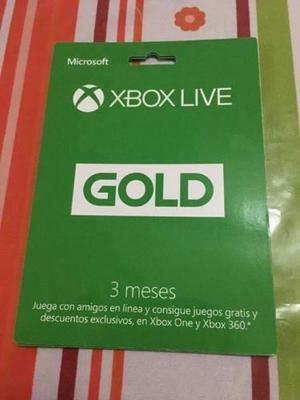 Membresia Gold de 3 Meses Xbox Live