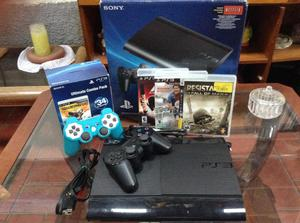 VENDO O CAMBIO PLAY STATION SUPER SLIM!!! 2 controles Juegos