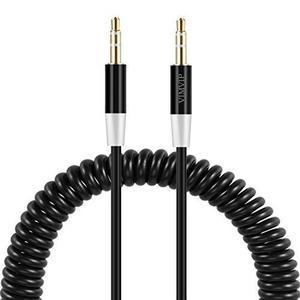 Vimvip Flexible Spring 3.5mm A 3.5 Mm Cable De Audio Auxili