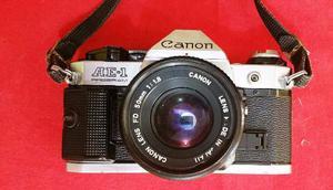 Camara Canon Canon Ae1 Clasica + Lente 50 Mm