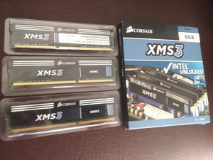 Memoria RAM PC Corsair XMS3 de 2GB cada una DDR MHz