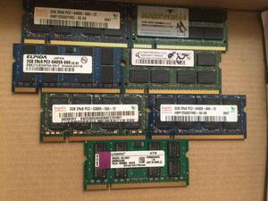 Memorias Ram de Portatil de 2gb Ddr2 y Ddr3
