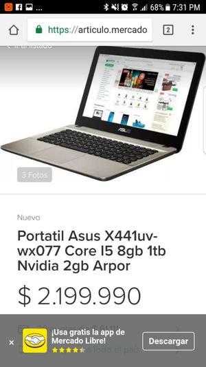 PORTATIL AZUS X441uvwx077 Core 15 8GB 1tb Nvidia 2