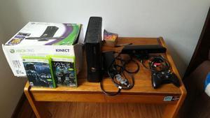 Xbox 360 Slim Con Kinect Y Juegos En Perfecto Estado