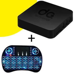 Tv Box Android Convierte A Smart + Teclado Mouse Inalambrico
