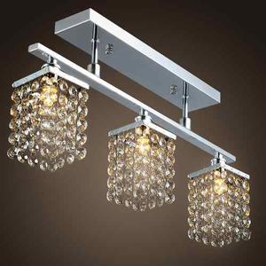 Lámpara Con 3 Luces En La Luz De Cristal De Techo