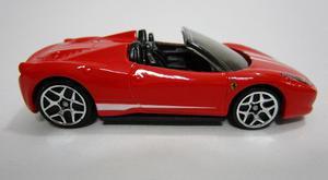 Ferrari 458 Spider Escala 7cm Coleccion Hot Wheels