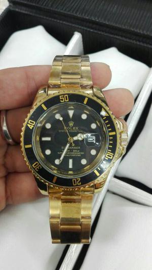 Reloj Rolex Submariner Dorado Borde Negr