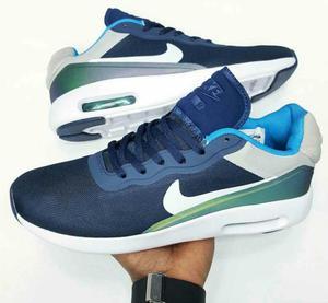 Tenis Nike Azul Y Verde Diseño Nuevo