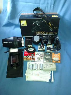 Cámara Nikon D, Trípode, Flashes, Filtros, Disp Y