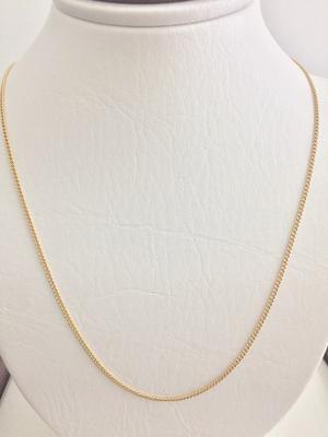 Cadena Mujer Martillada Oro 18k