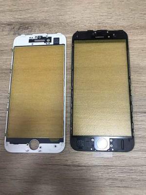 Visor Vidrio Y Marco Bisel Phone 6,6s,7g Blanco Y Negro