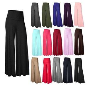 Bandas De Moda Suave De La Mujer Pantalones De Cintura Alta