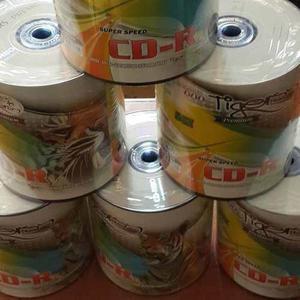 Caja De Cds Tigers Logo 600 Unidades Cd-r