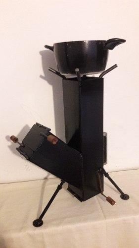 Estufa De Leña Portatil En Hierro De 4mm, De.40x.60cm