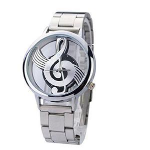 Novedad Musical Nota Dial Reloj De Movimiento De Cuarzo Con