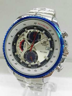 Reloj Casio Edifice Hombre Funcional 100% Tachymeter Clasico