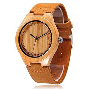 Reloj De Madera De Bambú De Los Hombres De Cucol Con La