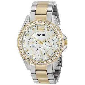 Reloj Fossil Es Acero Plateado/dorado Mujer
