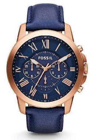 Reloj Fossil Fs Cuero Azul Hombre