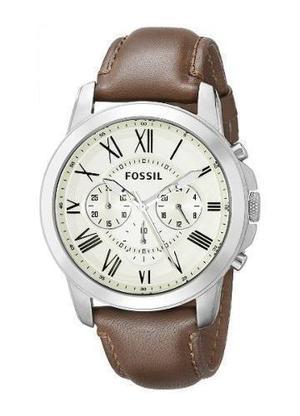 Reloj Fossil Fs Cuero Marron Hombre