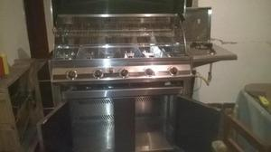 horno asador totalmente en acero inoxidable de 5 quemadores