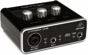 Interface Behringer U-phoria Um2 (en Stock) + Envío Gratis