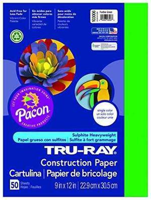 Papel De Construcción Pacon Tru-ray, 9 Pulgadas Por 12