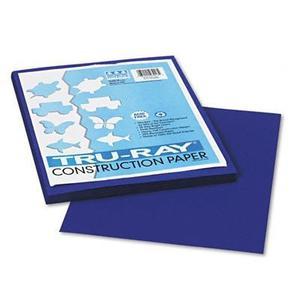 Papel De Construcción Tru-ray, Sulfito, 9 X 12, Azul