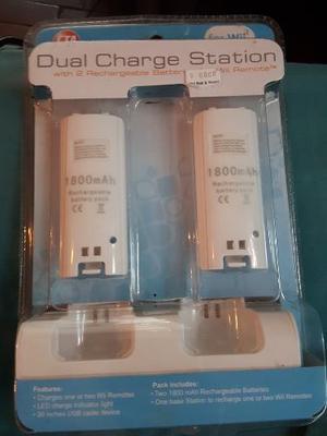 Cargador Doble + 2 Baterias Para Wii