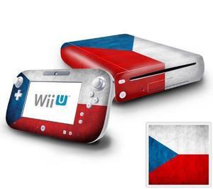 Consola Nintendo Wii U Y Etiqueta Engomada De La Piel