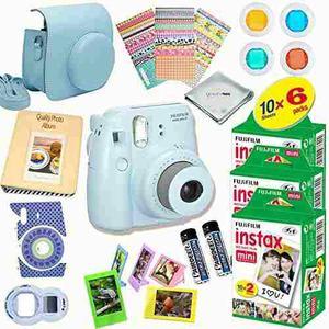Fujifilm Instax Mini 8 Cámara (azul) Paquete De Kit De Lujo
