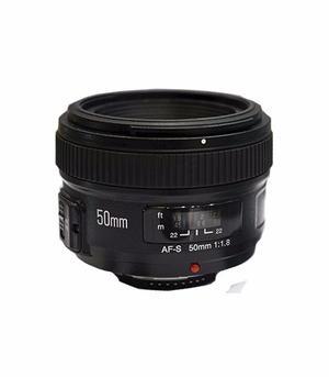 Lente Yongnuo 50mm F/1.8 Para Nikon Mas Parasol Y Filtro Uv